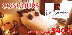 Concours du Québec en Hiver en collaboration avec l'Auberge la Bastide