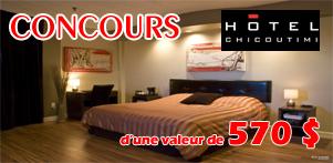 Concours du Québec en Printemps en collaboration avec l'Hôtel Chicoutimi