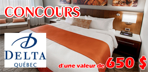 Concours du Québec en Automne en collaboration avec l'Hôtel Delta Québec dans la région de Québec