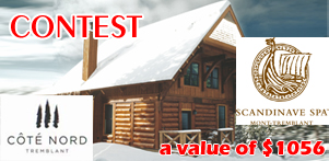 Winter in Quebec's contest in collaboration with Côté Nord Tremblant and Spa Scandinave Mont-Tremblant in Laurentians Region
