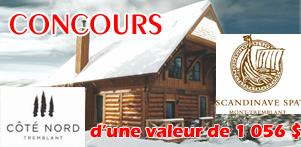 Concours du Québec en Hiver en collaboration avec Côté Nord Tremblant et le Scandinave Spa Mont-Tremblant dans la région des Laurentides