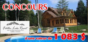 Concours du Québec en Été en collaboration avec Fiddler Lake Resort dans la région des Laurentides