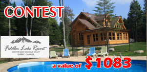 Summer in Quebec's contest in collaboration with Fiddler Lake Resort in Laurentides Aera