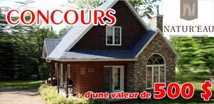 Concours du Québec en Été en collaboration avec Chalet Natur'Eau dans la région de Lanaudière et Global Réservation