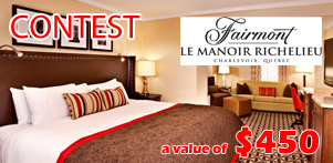?Like Us? contest on Global Reservation?s Facebook Page and Fairmont Le Manoir Richelieu's Facebook Page in Charlevoix Region