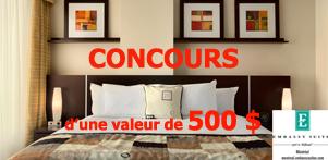 Concours du Québec en Printemps 2015 en collaboration avec l'Hôtel Embassy Suites Montréal dans la région de Montréal et Global Réservation