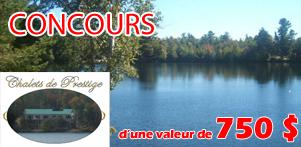 """Concours """"Faites J'AIME"""" sur la page Facebook de Global Réservation et celle des Chalets de Prestige dans la région de Lanaudière"""