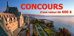 Concours du Québec en Automne 2015 en collaboration avec le Fairmont Le Manoir Richelieu dans la région de Charlevoix et Global Réservation