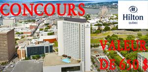 Concours du Québec en Automne 2016 en collaboration avec le Hilton Québec dans la région de Québec et Global Réservation
